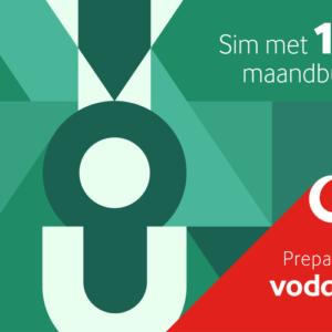 Vodafone 1GB maandbundel simkaart